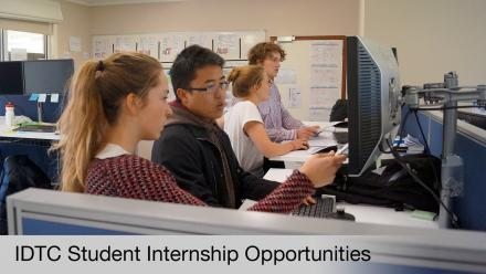IDTC Student Internship Opportunities - Interns at work