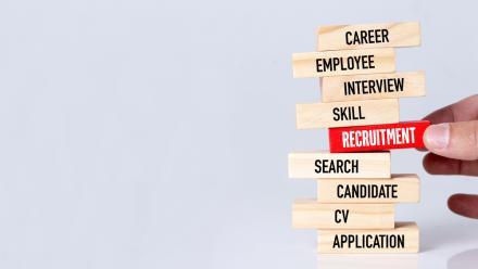 Recruitment Terminology Jenga Puzzle Pieces