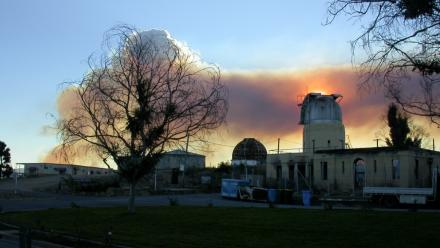 Aftermath of 2003 fire (Mt Stromlo Archives)
