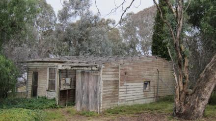The Buggy Shed, prior to restoration, 2012. (Amy Jarvis)