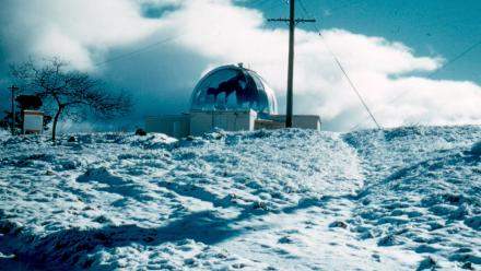 Snow at Oddie Dome, 1960s (Mt Stromlo Archives)
