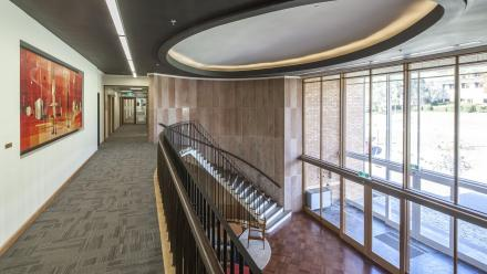 Foyer of the refurbished Florey Building. (Stuart Hay)