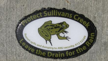 ANU frog watch logo