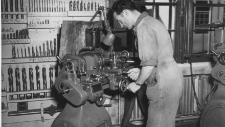 Workshops, 1950s (Norman Banham Collection, Mt Stromlo Archives)