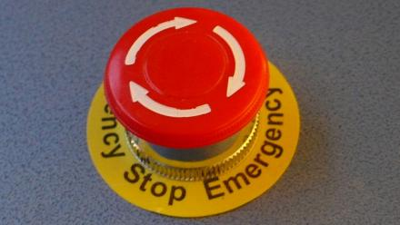 Emergency stop button by Tim Regan on Flickr