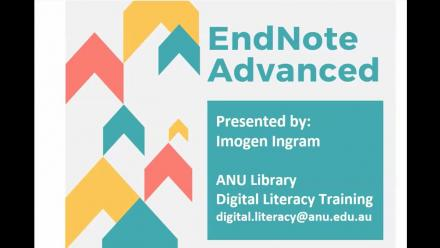 EndNote Advanced Webinar