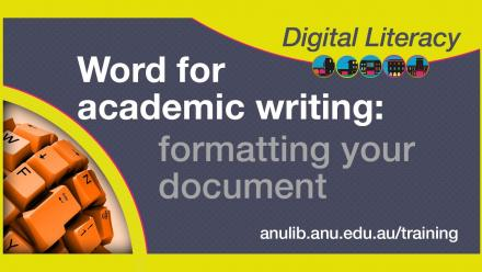 Word formating your document