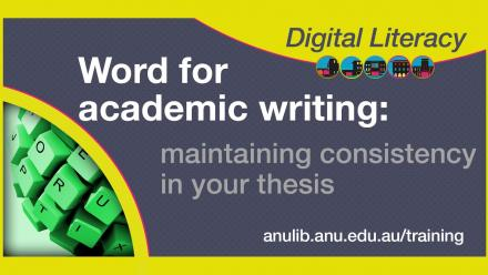 Word maintaining consistency in your thesis