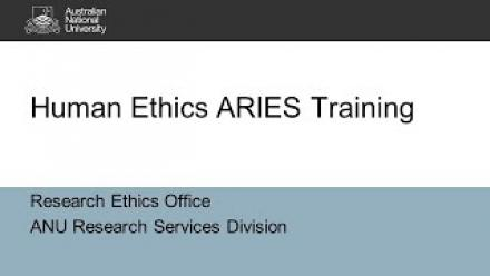 Human Ethics and ARIES Training Video (2021)