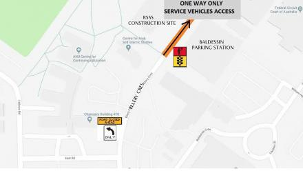 Ellery Cres traffic arrangements