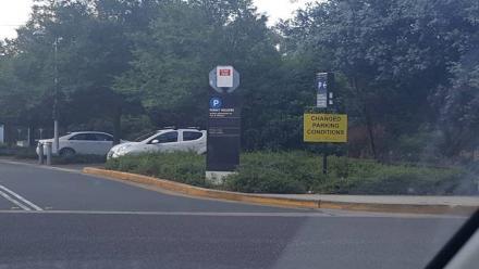 Pay & Display signs installed at entrances