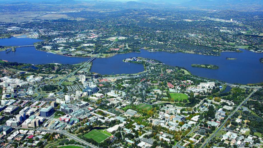Aerial view of ANU