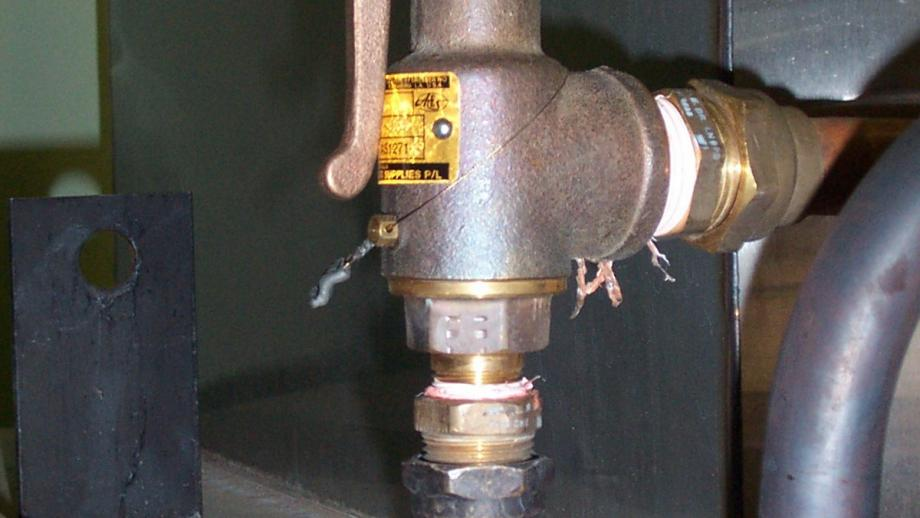 Typical safety relief valve