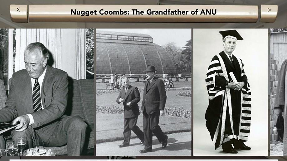 Photographs of H.C. 'Nugget' Coombs in the OAA 360 app. (Glasshouse Creative Media)