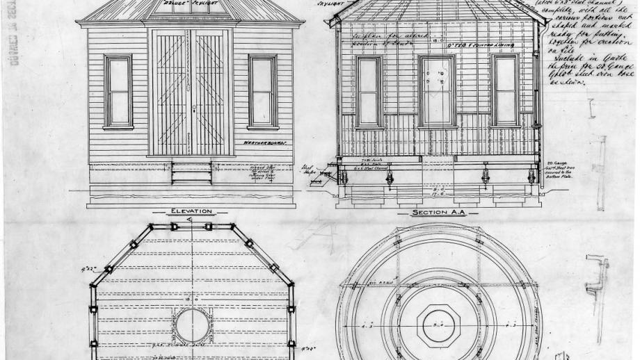 Plans for Stromlo Kite House, 1914 (Mt Stromlo Archives)