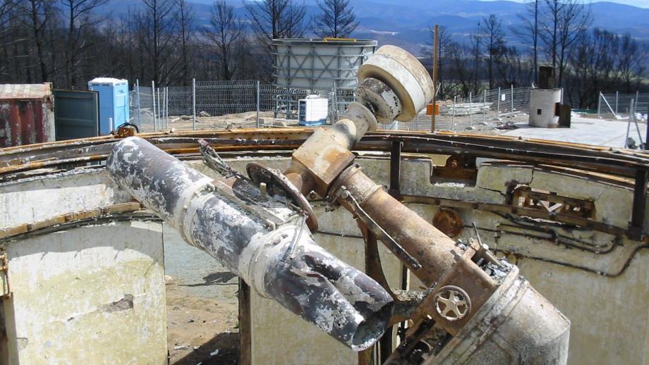 Ruins of Oddie Telescope, 2003 (Mt Stromlo Archives)