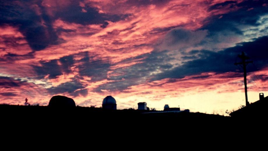Sunset at Mt Stromlo, 1960s