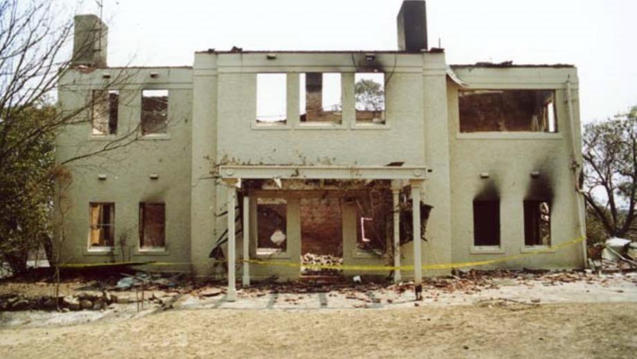 Façade of Residence post fire, 2003 (Tim Borough)