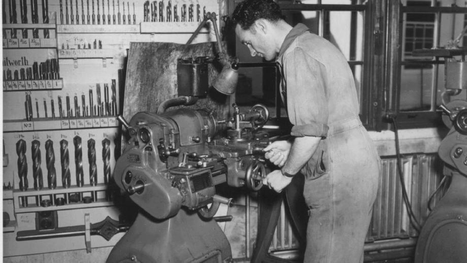 Workshops, 1950s (Norman Banham Collection, Mt Stromlo Archives)