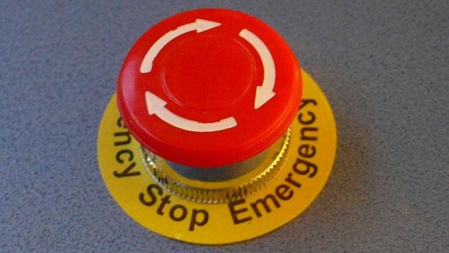 Emergency stop button by Tim Regan on Flickr