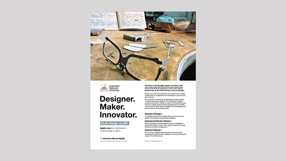 School of Art and Design ad