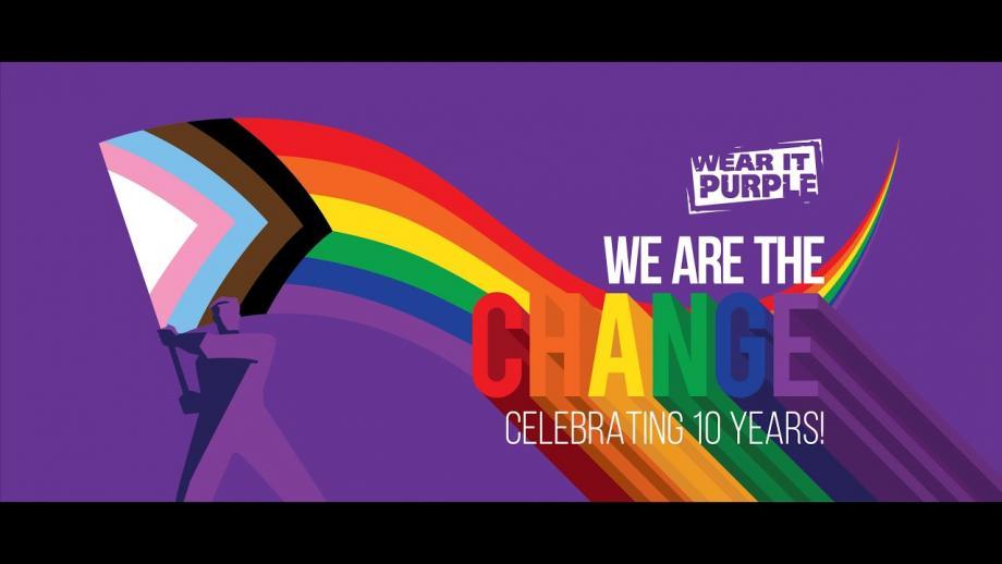 Wear It Purple Day Message from Grady Venville, 28 August 2020