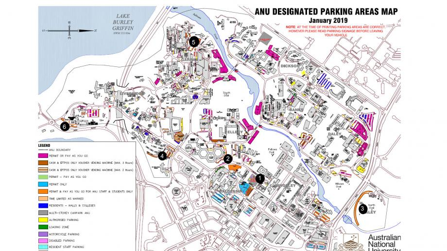 Anu Campus Map Changes to parking on Acton campus   Staff Services   ANU