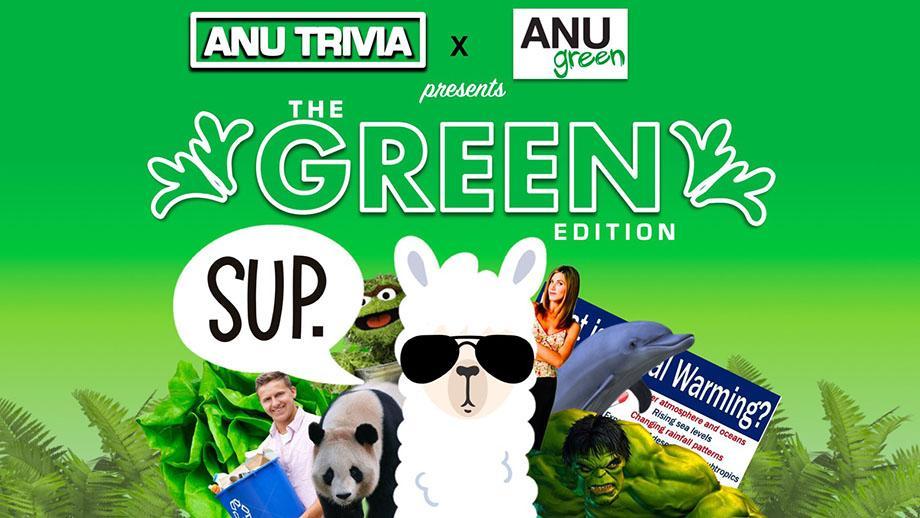 ANUgreen trivia night promotional poster