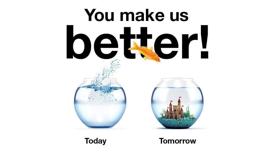 You make us better