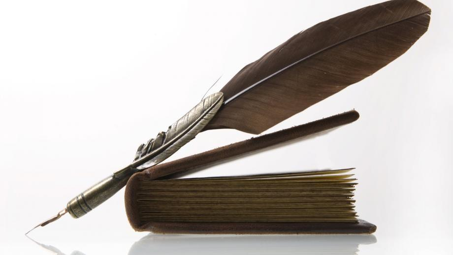 Image of quill and book