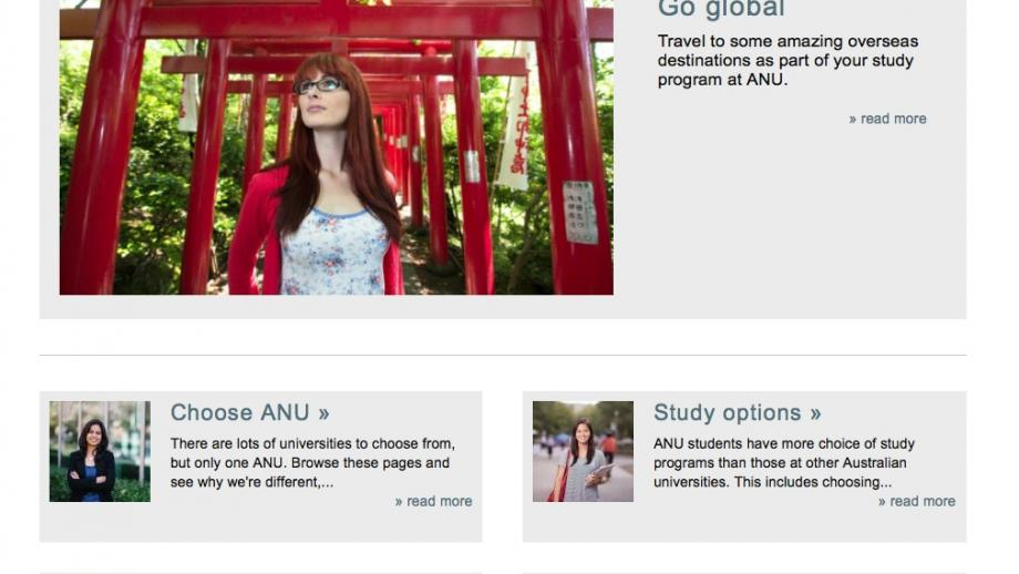 Example student page