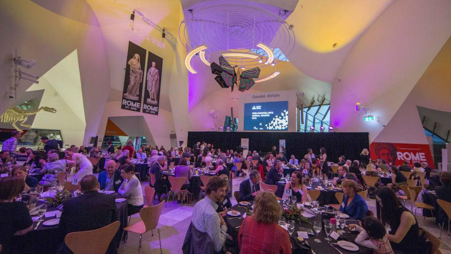 The inaugural Vice-Chancellor's Annual Awards was held at the Gandel Atrium, National Museum of Australia. Photos by Lannon Harley, ANU.