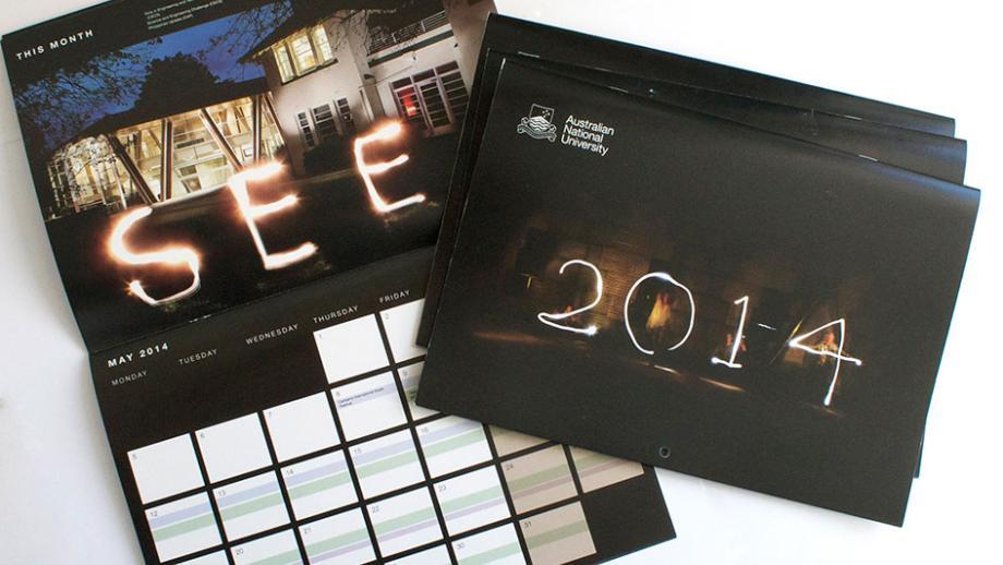 Gift calendar inside and cover