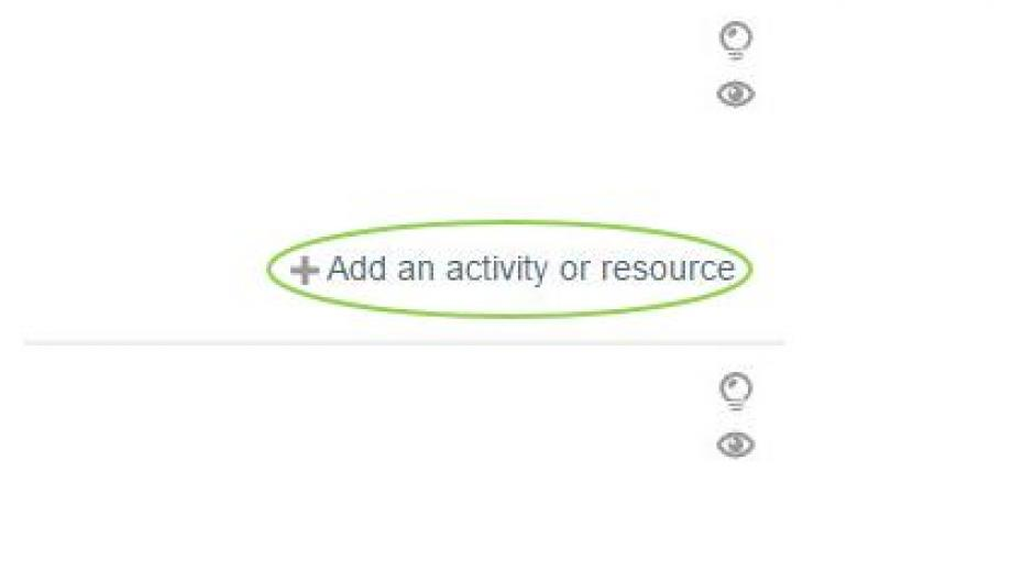 + Add an activity or Resource