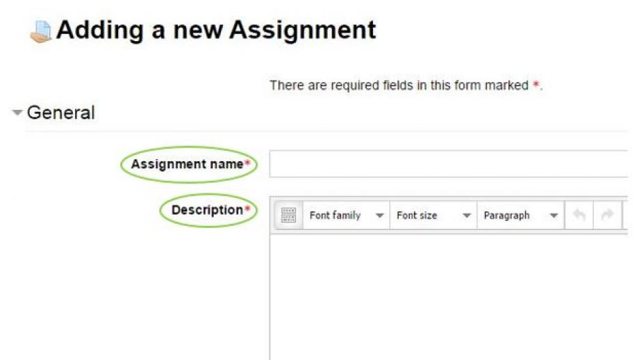 Adding a new assignment
