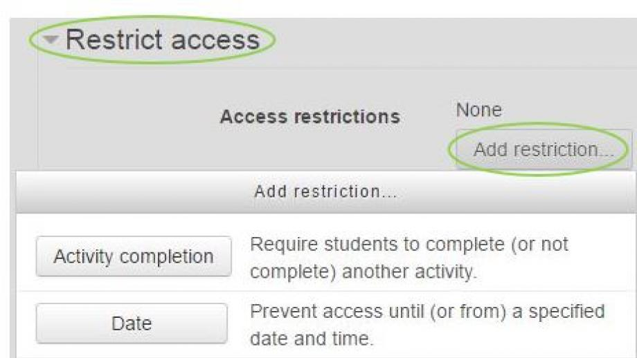 Assignment Access restrictions