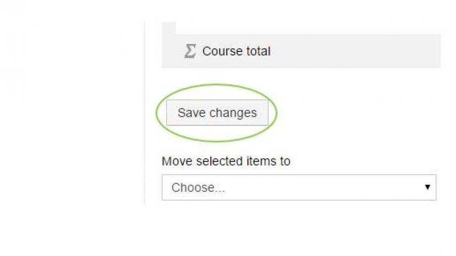 Gradebook Save Changes