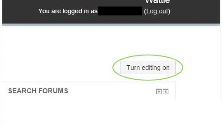 Turn Editing On. ANU Wattle
