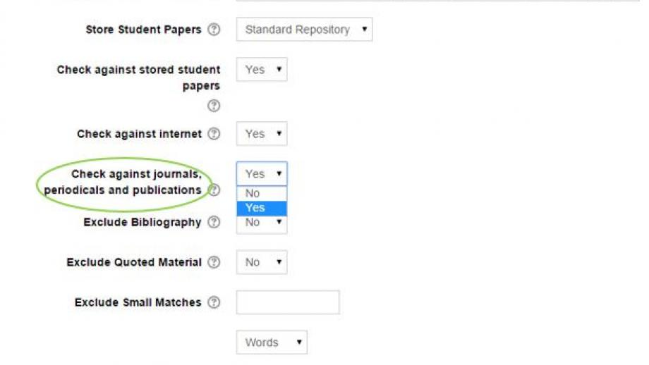 Turnitin Check journals, periodicals and publications