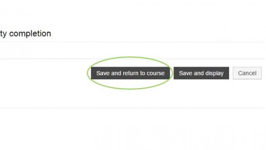 Turnitin Save and return to course