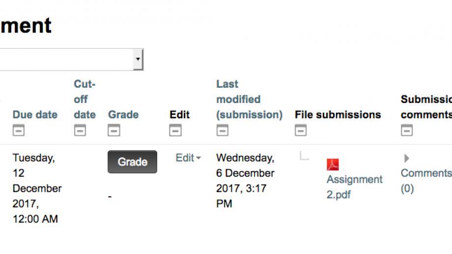 Grading summary