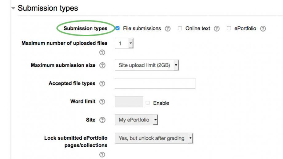 Submission types