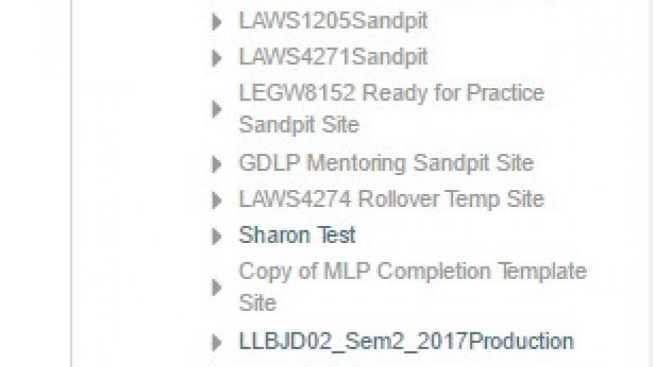 Grades item in Navigation tab
