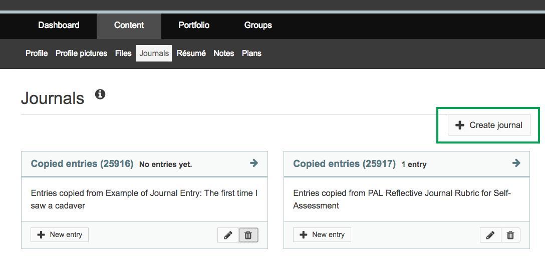 Create a journal - Staff Services - ANU