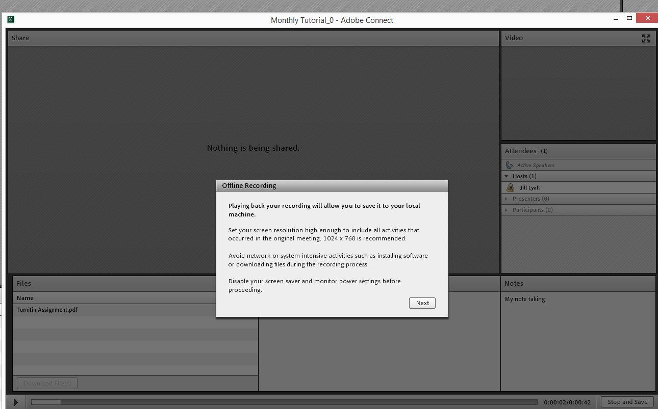 How to record an Adobe Connect session, edit the recording
