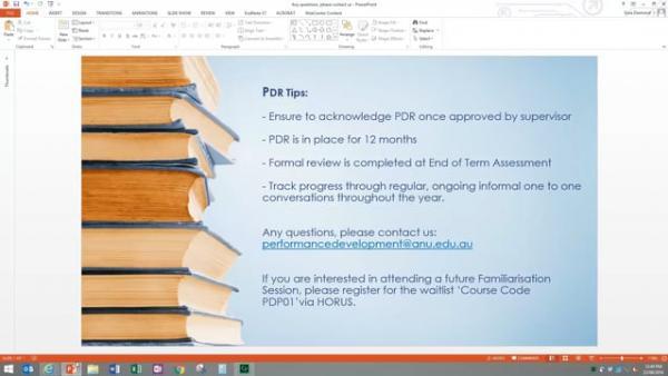 Academic PDR eForm Screencast
