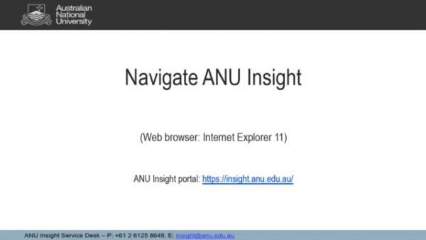 Navigate ANU Insight