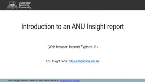 Introduction to an ANU Insight Report