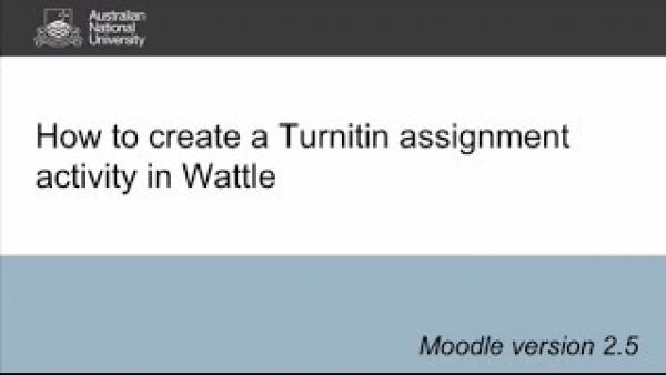 Turnitin for Staff: How to create a Turnitin assignment