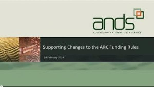 Supporting Changes to the ARC Funding Rules - 19 February 2014